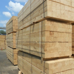 uncut pallet blocks on Timber Trade Line's outdoor storage area