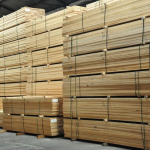stacked up pinewood timber