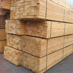 outdoor stack of timber